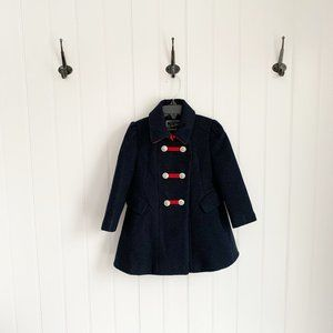 Rothschild Navy and Red Girls Peacoat 3T